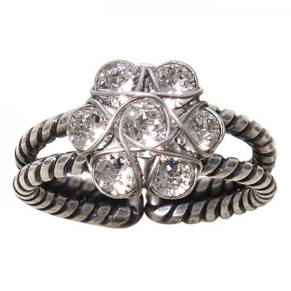 Konplott 70´s Circles Ring in silber weiß