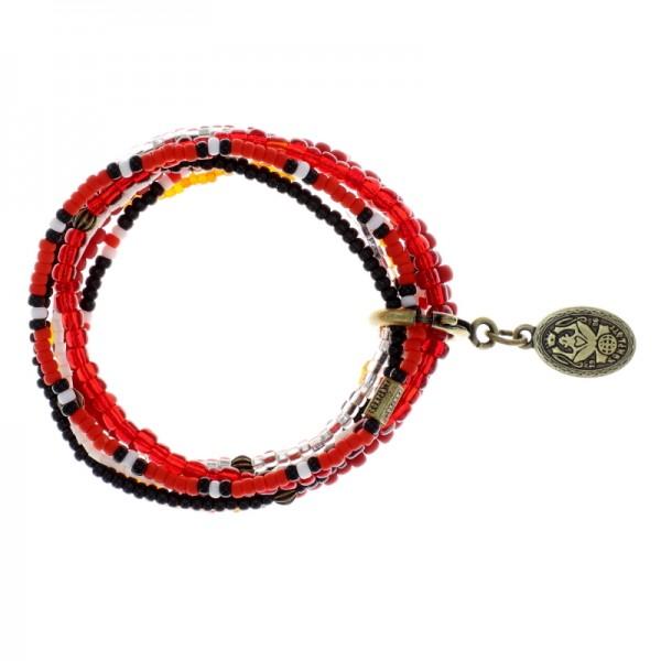 Konplott Petit Glamour d´Afrique Armband rot weiß