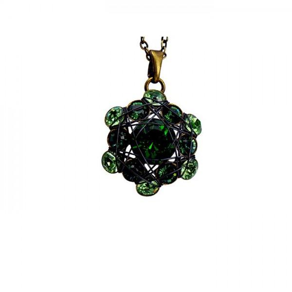 Konplott Halskette Bended Lights in grün multi