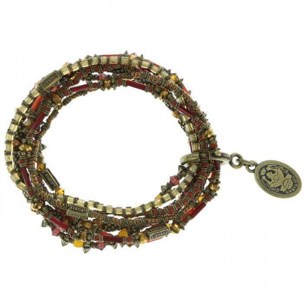 Konplott Armband Petit Glamour d' Afrique in braun-rot