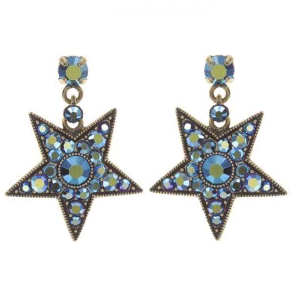 Konplott Dancing Star Ohrhänger blau