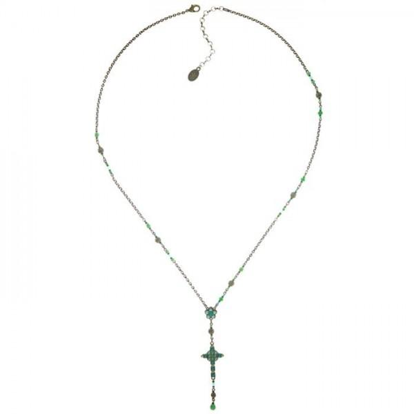 Konplott Rosary Kette grün Vollaufnahme