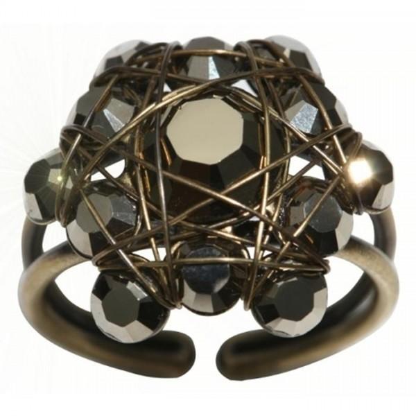 Konplott Bended Lights Ring in schwarz
