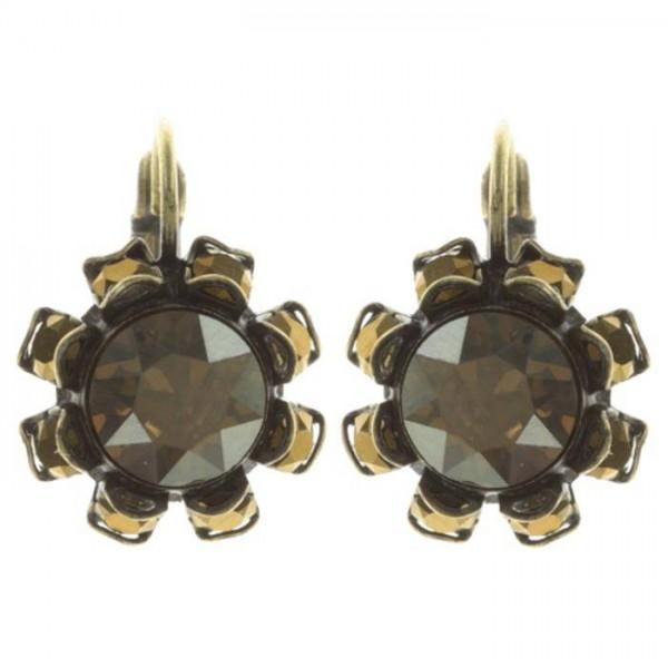 Tropical schwarz braune Ohrringe von Konplott