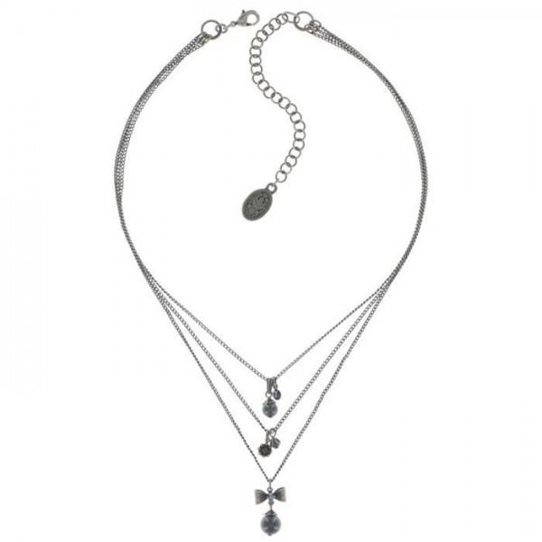 Konplott Pearl ´n´Ribbons schicke Halskette in schwarz