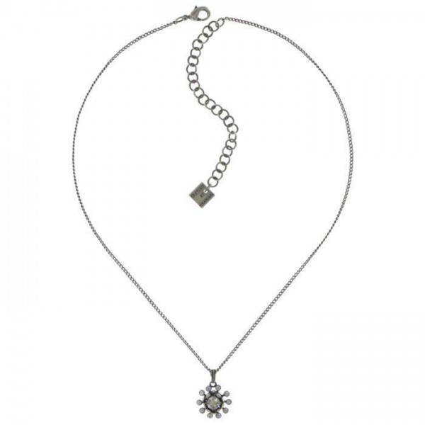 Besondere Konplott Pool Side Flower Halskette besetzt mit weissen Swarovski Elements