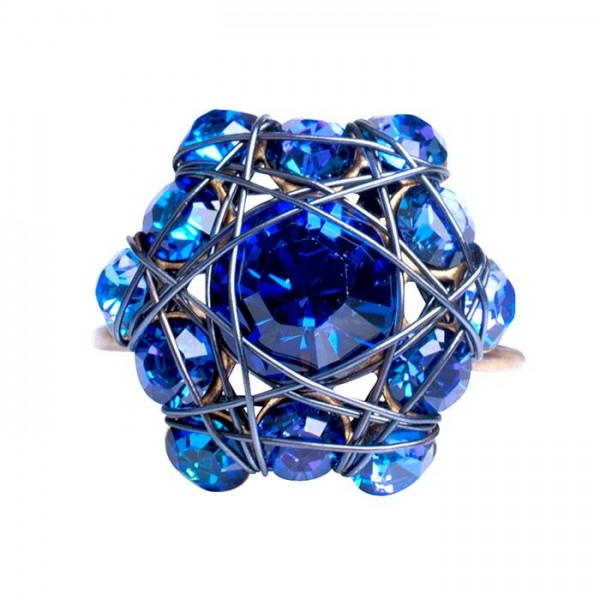 Konplott Bended Lights Ring in blau/lila
