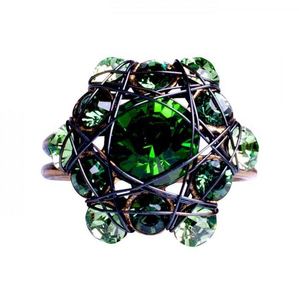Konplott Bended Lights Ring in grün