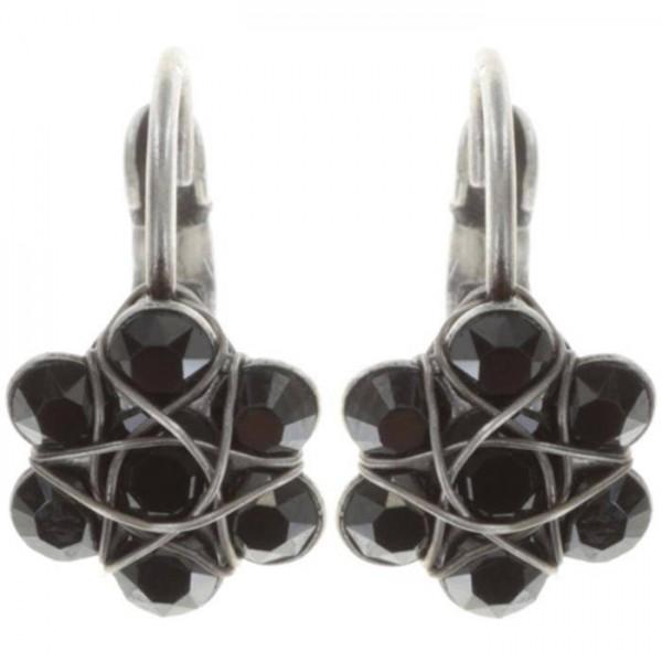 Konplott 70´s Circles Ohrringe in schwarz