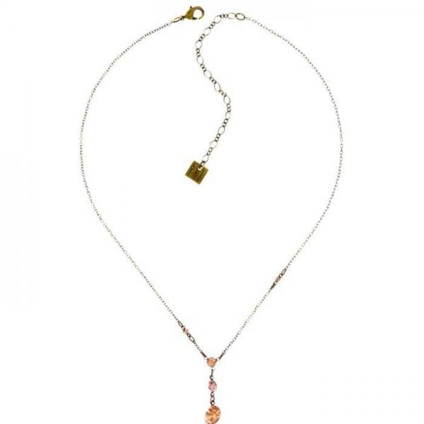 Konplott Tutui Halskette mit fünf beigen Swarovski Elements