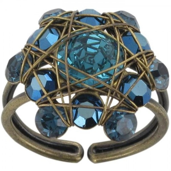 Konplott Bended Lights Ring in blau