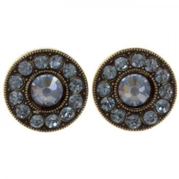 Konplott Ohrstecker Spell on you in hellblau erstrahlen mit 13 Swarovski Elements