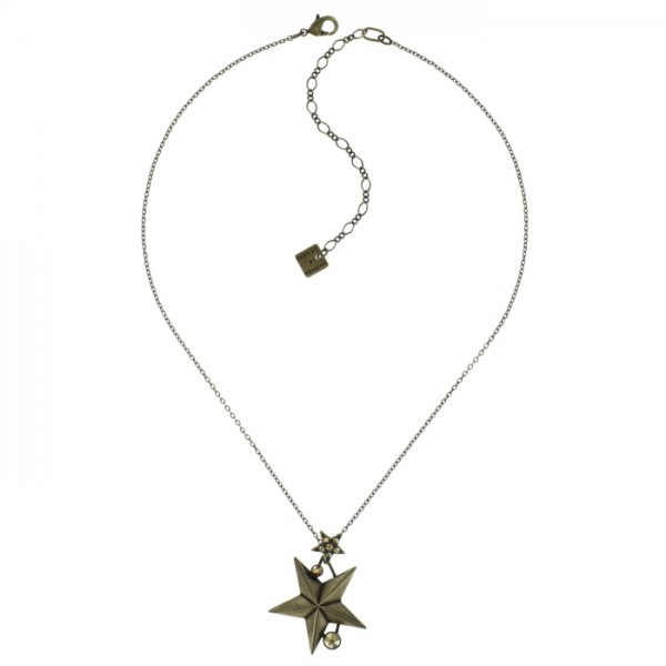 Konplott Dancing Star Halskette braun