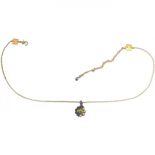Konplott Halskette Spider kiss in gelb multi