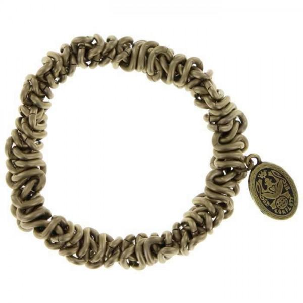 Konplott Bead Snakes beiges elastisches Armband