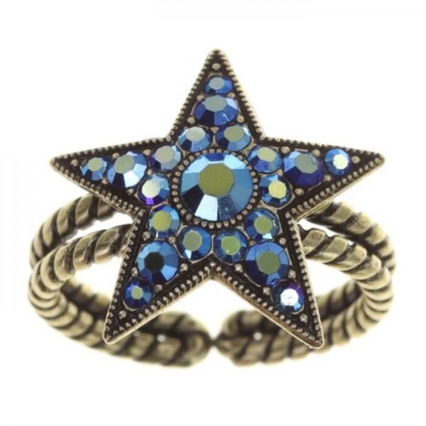 Konplott Dancing Star Ring blau
