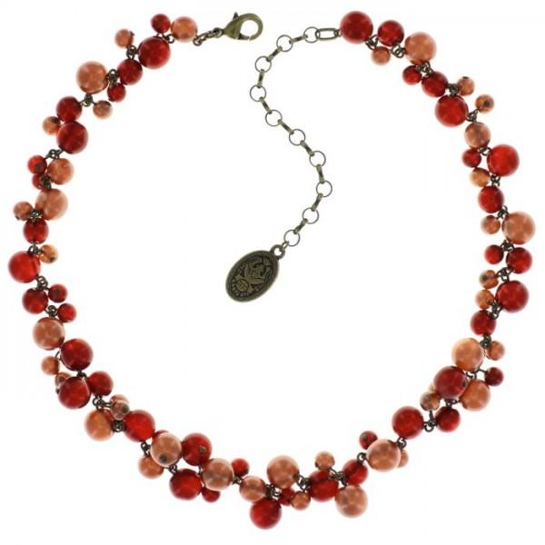 Konplott Caviar de Luxe Halskette rot braun