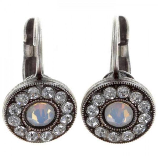 Konplott Spell on you weiße Ohrringe strahlen mit funkelnden Swarovski Elements