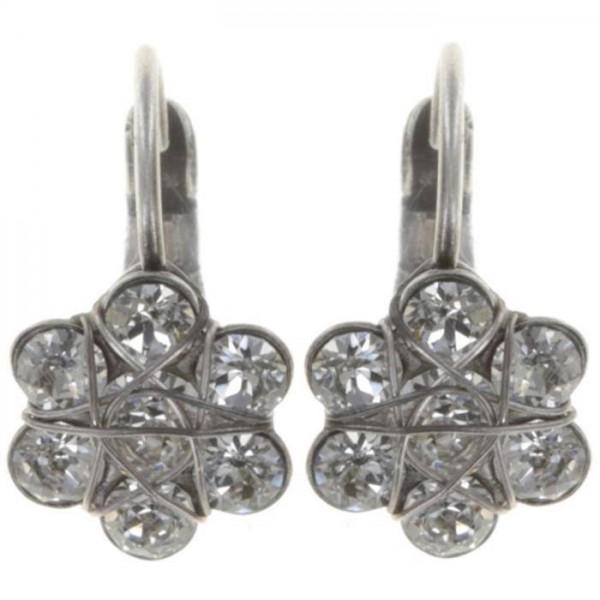 Konplott 70´s Circles Ohrringe in silber weiß