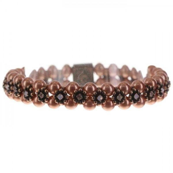Konplott Pearl ´n´Ribbons trendiges pinkes Armband