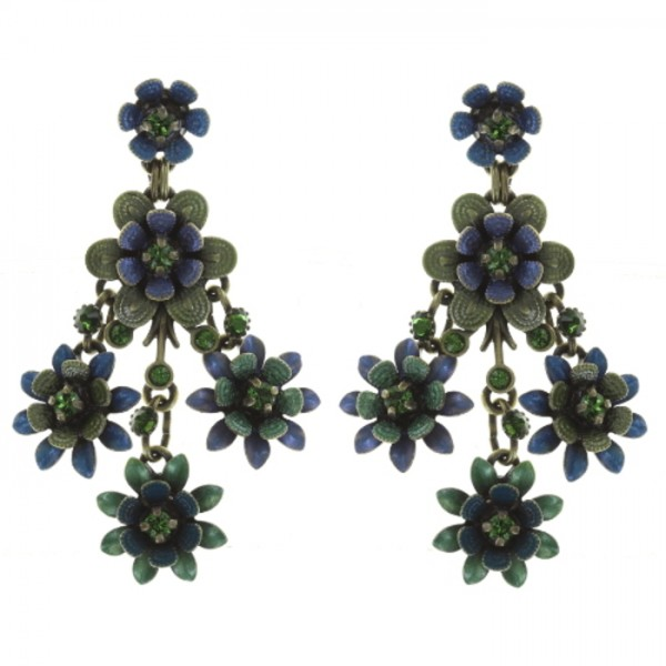 Konplott Mille Fleurs Ohrhänger blau grün