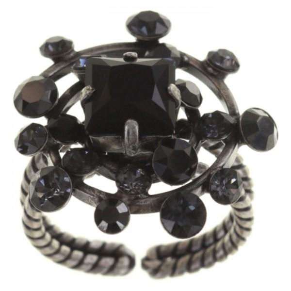 Konplott Ring Hera in schwarz Vollsicht