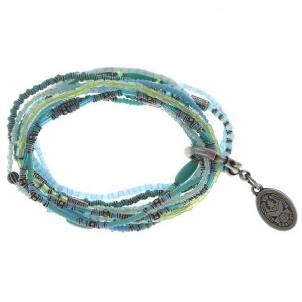 Konplott Petit Glamour d`Afrique Armband in blau gruen