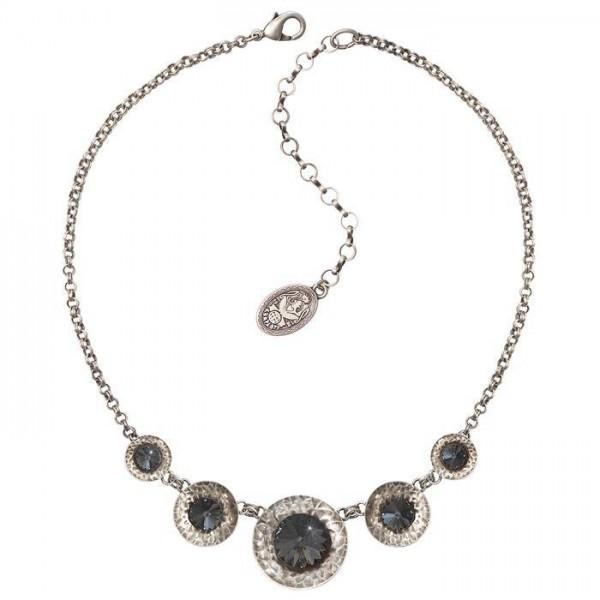 Konplott Rivoli Concave Halskette schwarz