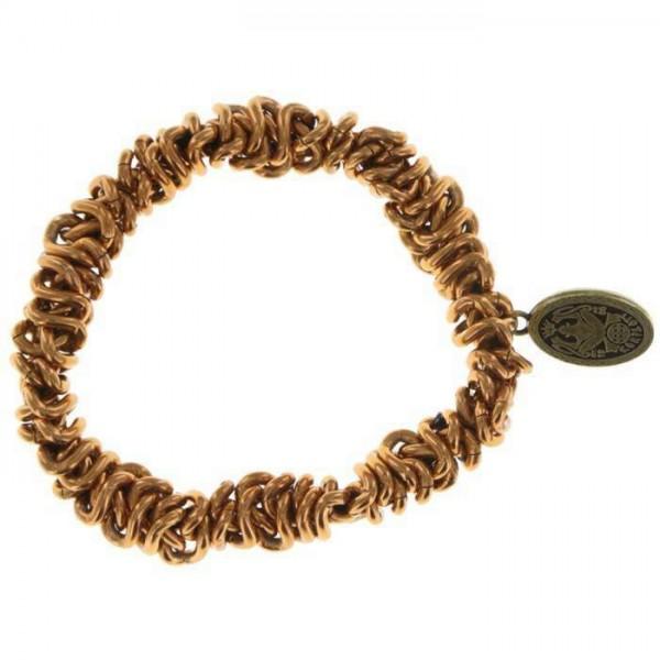 Konplott elastisches Armband Bead Snakes in hellbraun