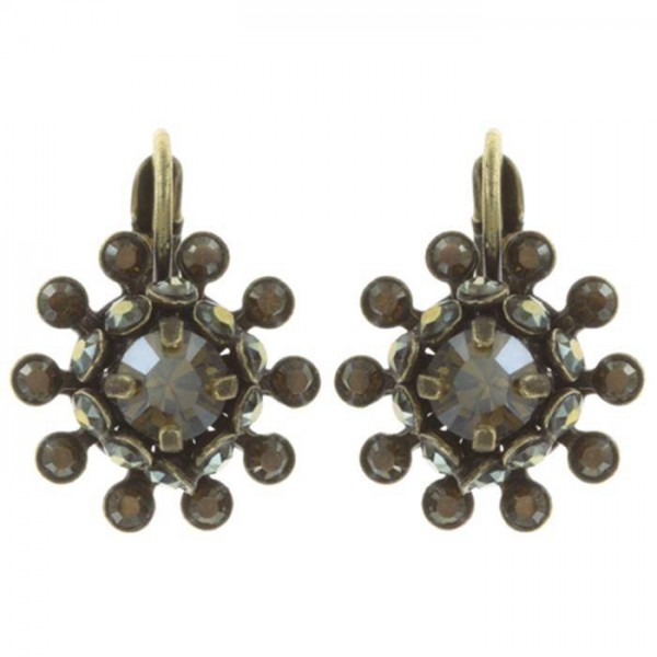 Braune elegante Ohrringe aus der Konplott Kollektion Pool-Side Flower