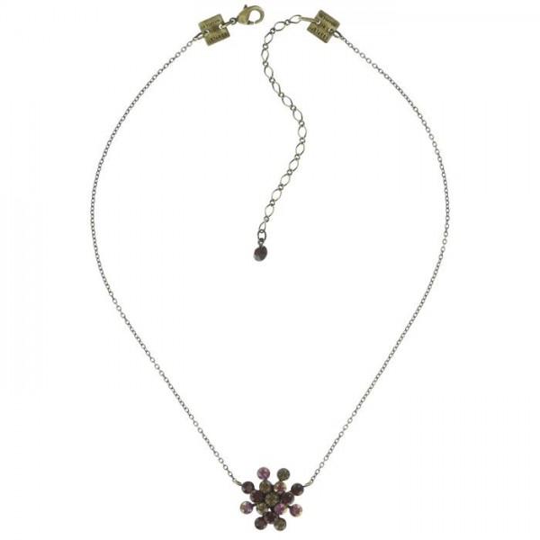 Konplott Magic Fireball Halskette in rot braun