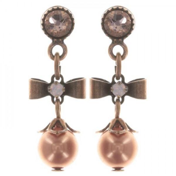 Konplott Pearl ´n´Ribbons Ohrhänger in pink lang
