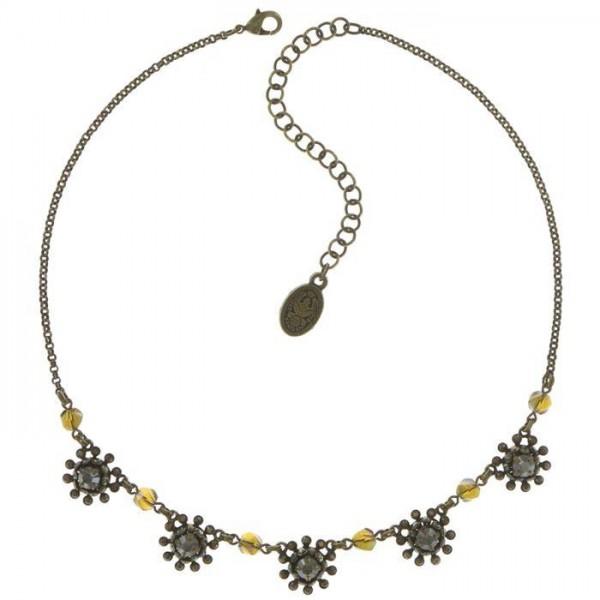 Besondere Pool Side Flower Halskette von Konplott in braun