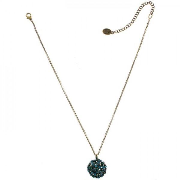 Konplott kurze Halskette Ballroom grün/blau