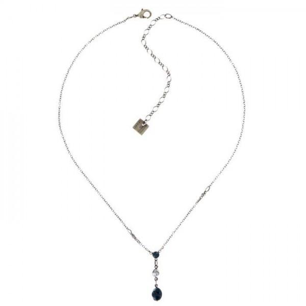 Konplott Tutui Halskette ist mit fünf blauen Swarovski Elements bestückt