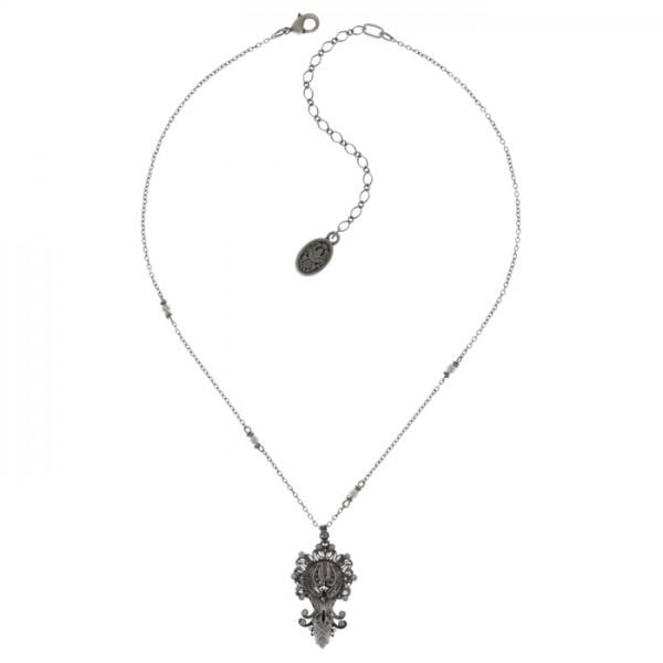 Konplott Harakiri Bloom Halskette weiß Vollansicht