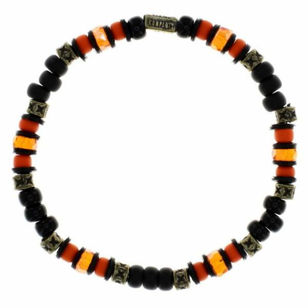 Konplott Urban Scuba Armband schwarz orange