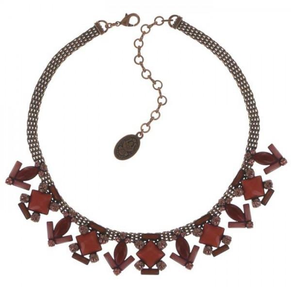 Art Deco Kette von Konplott besetzt mit roten Swarovski Elements Das Besondere Schmuck Stueck