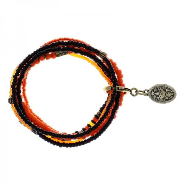 Konplott Petit Glamour d´Afrique Armband schwarz orange