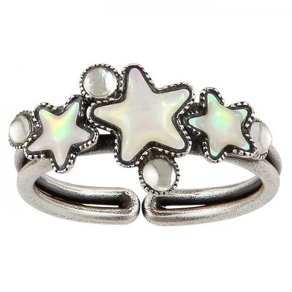 Konplott Sternentaler Ring weiß