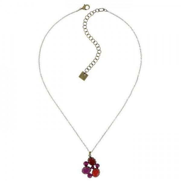 Konplott Melody Drops Halskette mit rote Steinen und Swarovski Elementsn