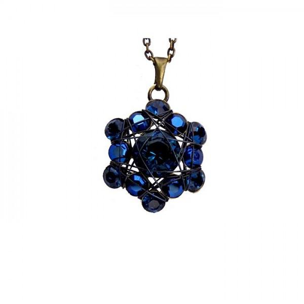 Konplott Halskette Bended Lights in blau