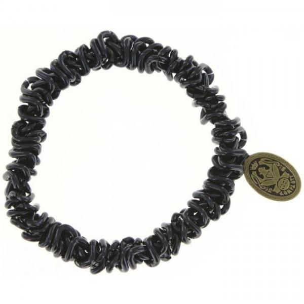 Konplott elastisches schwarzes Armband aus der Kollektion Bead Snakes