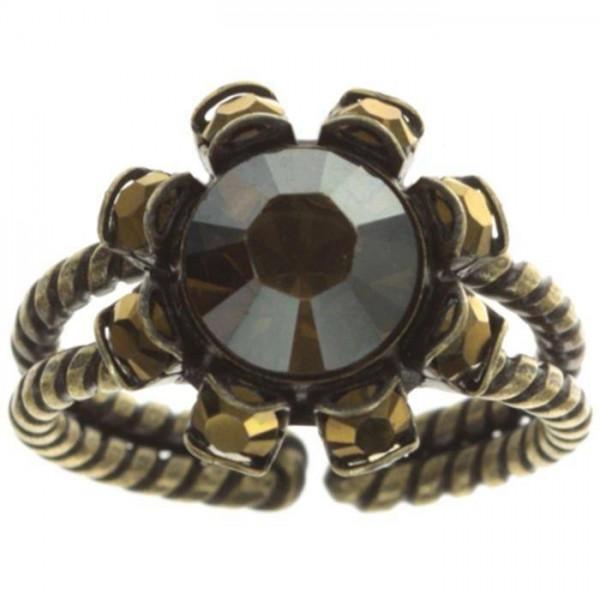 Tropical Ring in einem schicken schwarz braun
