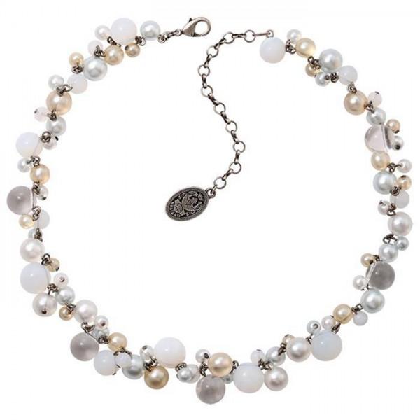 Konplott Caviar de Luxe Halskette weiß