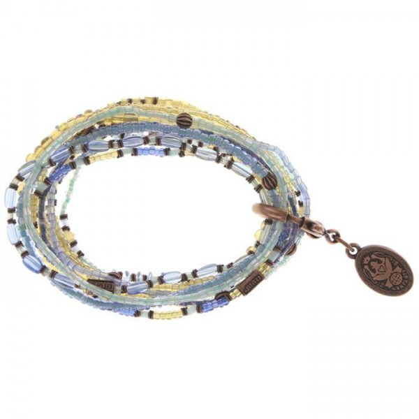 Konplott Petit Glamour d`Afrique Armband in blau braun