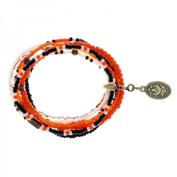 Konplott Petit Glamour d´Afrique Armband orange weiß