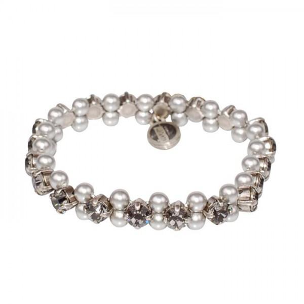 Konplott Armband elastisch Pearl Shadow in grau