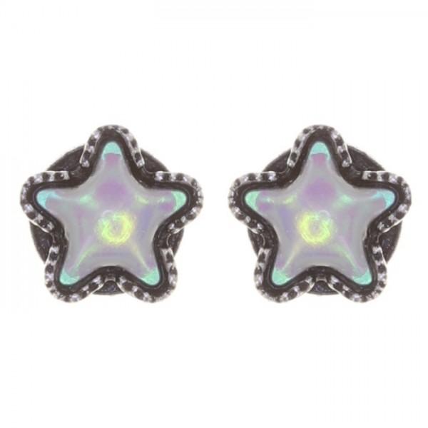Konplott Sternentaler Ohrstecker weiß