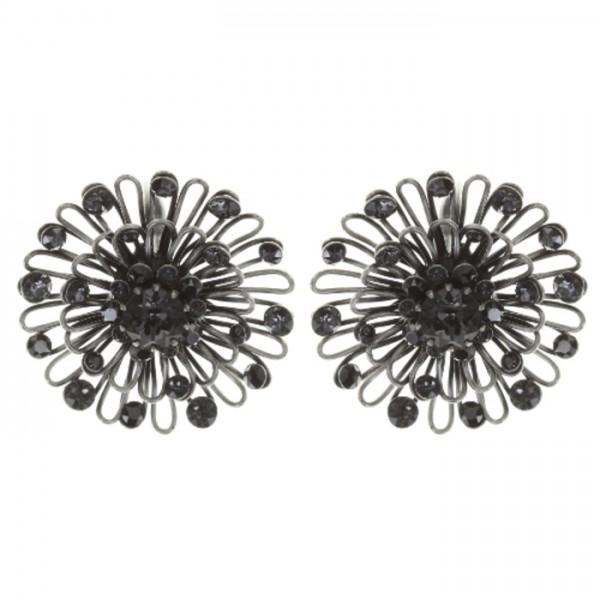 Konplott Distel Ohrring im elegantem schwarz